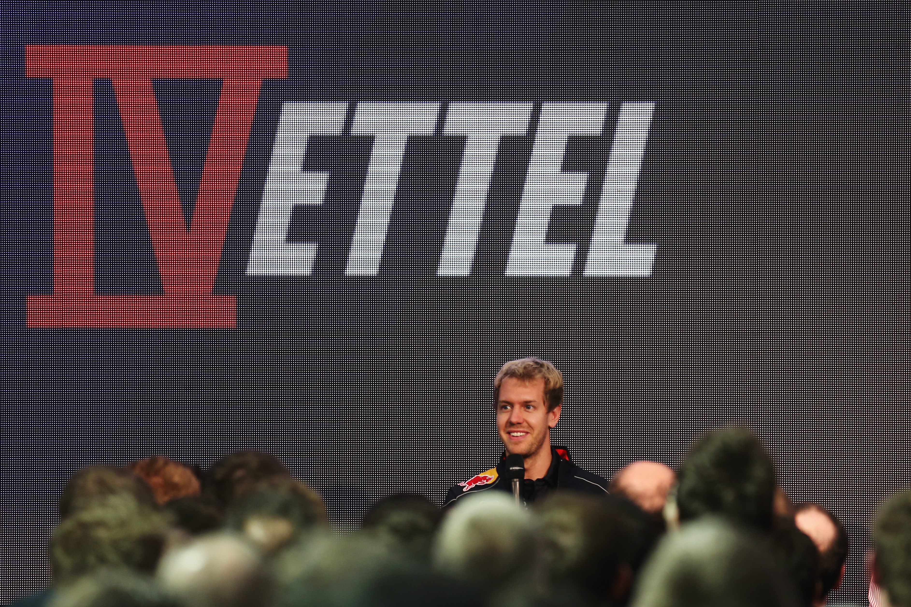 at the Infiniti Red Bull Racing World Championship Press Conference on November 6, 2013 in Milton Keynes, England.
