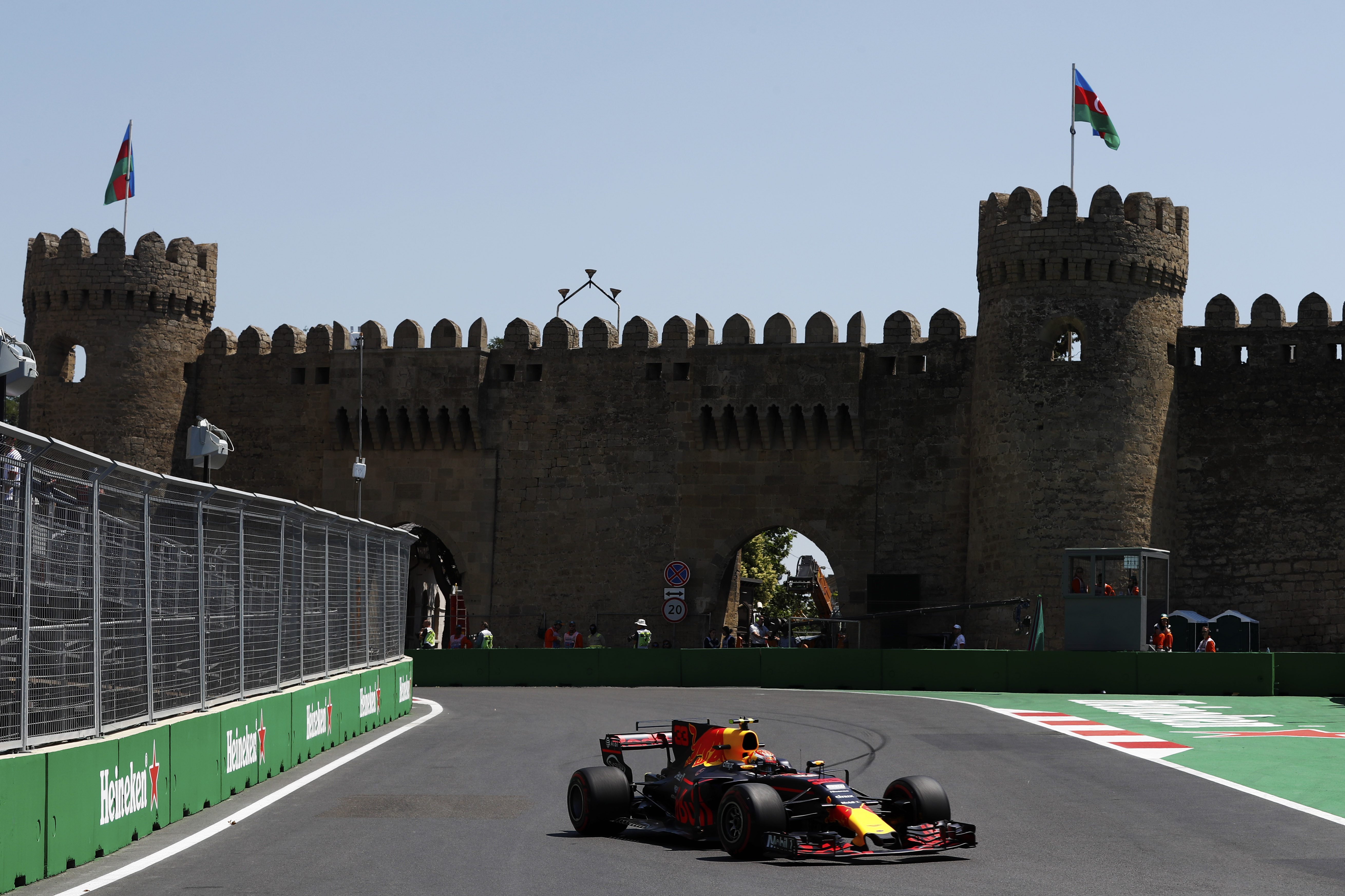 Baku City Circuit, Baku, Azerbaijan. Friday 23 June 2017. Max Verstappen, Red Bull Racing RB13 TAG Heuer. World Copyright: Glenn Dunbar/LAT Images ref: Digital Image _31I9217