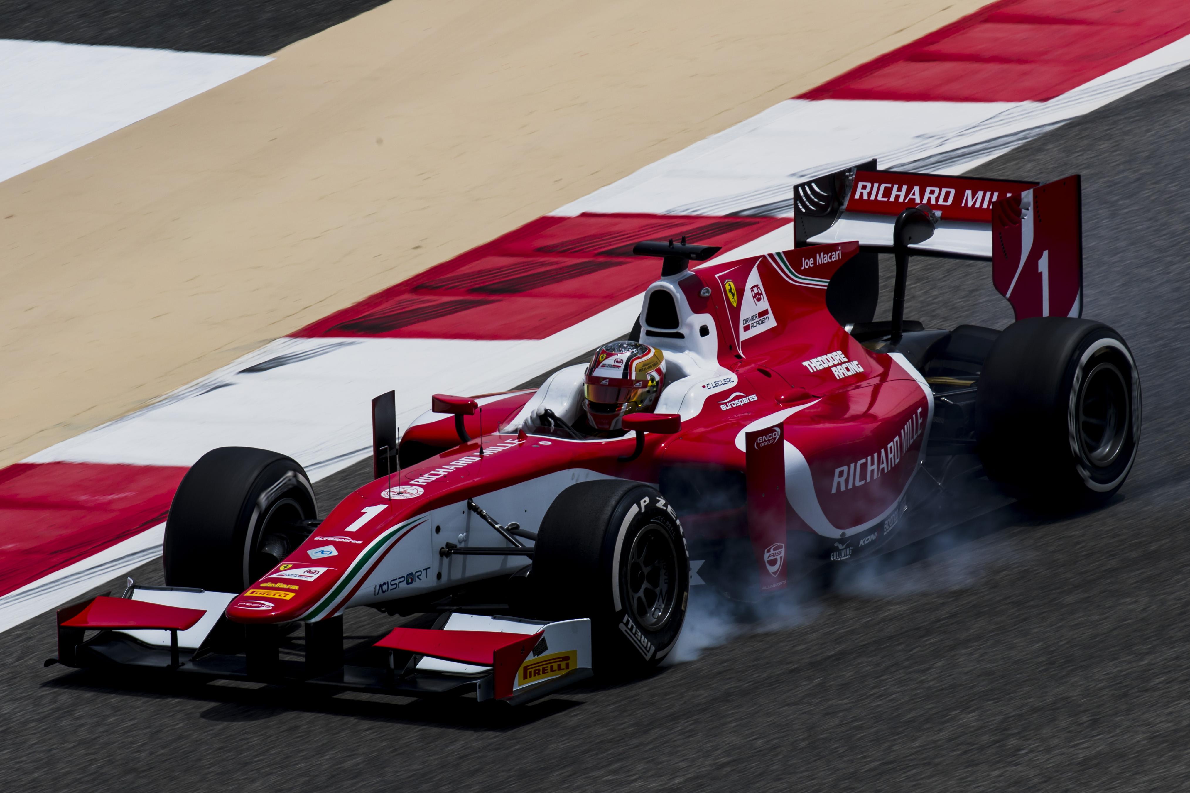 2017 FIA Formula 2 Round 1. Bahrain International Circuit, Sakhir, Bahrain. Friday 14 April 2017. Charles Leclerc (MCO, PREMA Racing) Photo: Zak Mauger/FIA Formula 2. ref: Digital Image _56I9633