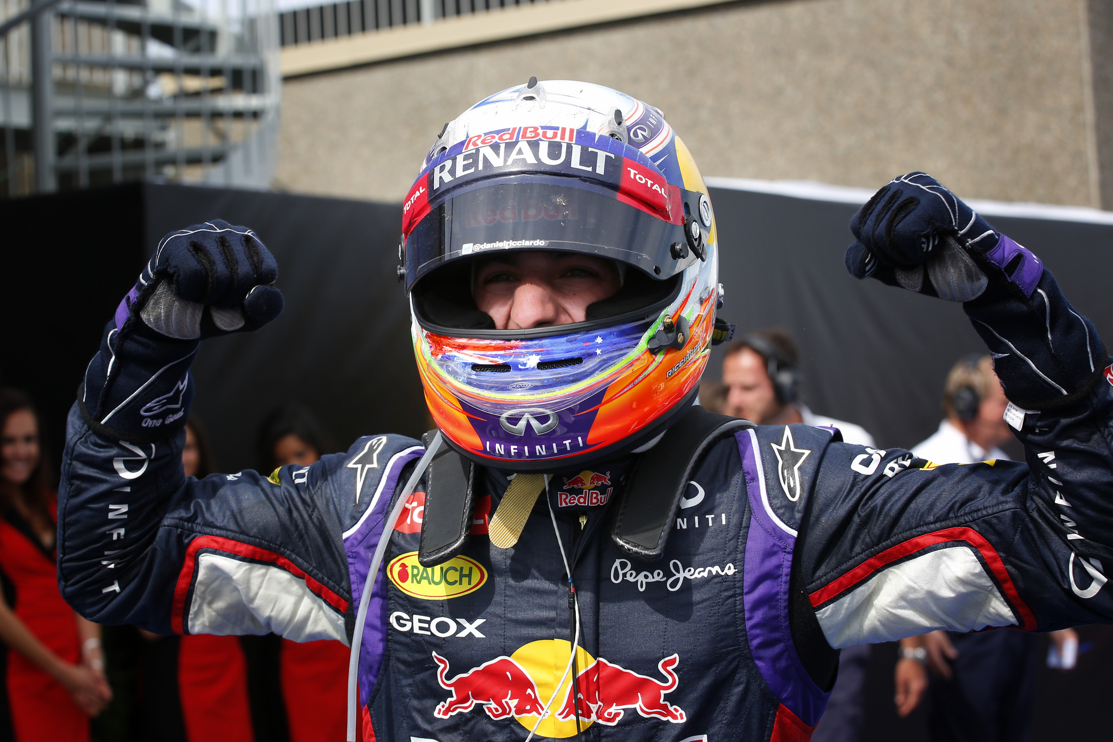 RICCIARDO Daniel (Aus) Red Bull Renault Rb10 ambiance portrait podium ambiance  during the 2014 Formula One World Championship, Grand Prix of Canada from June 5 to 8th, 2014 in Montreal, Canada. Photo Frederic Le Floc'h / DPPI