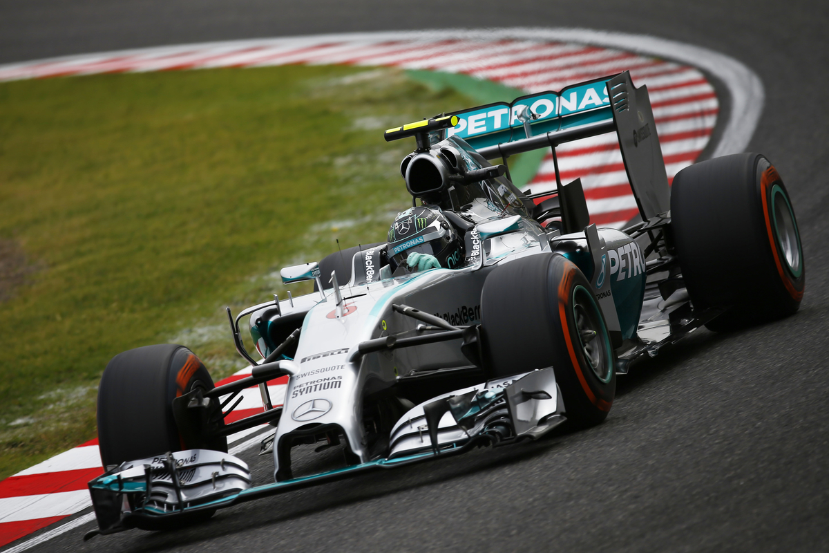 2014 Formula One Japanese Grand Prix Suzuka International Racing Course, Mie Prefecture, Japan. 2nd -5th October 2014. Nico Rosberg, Mercedes F1 W05 Hybrid, Action, World Copyright: © Andrew Hone Photographer 2014. Ref:  _ONY9763