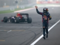during the Indian Formula One Grand Prix at Buddh International Circuit on October 27, 2013 in Noida, India.
