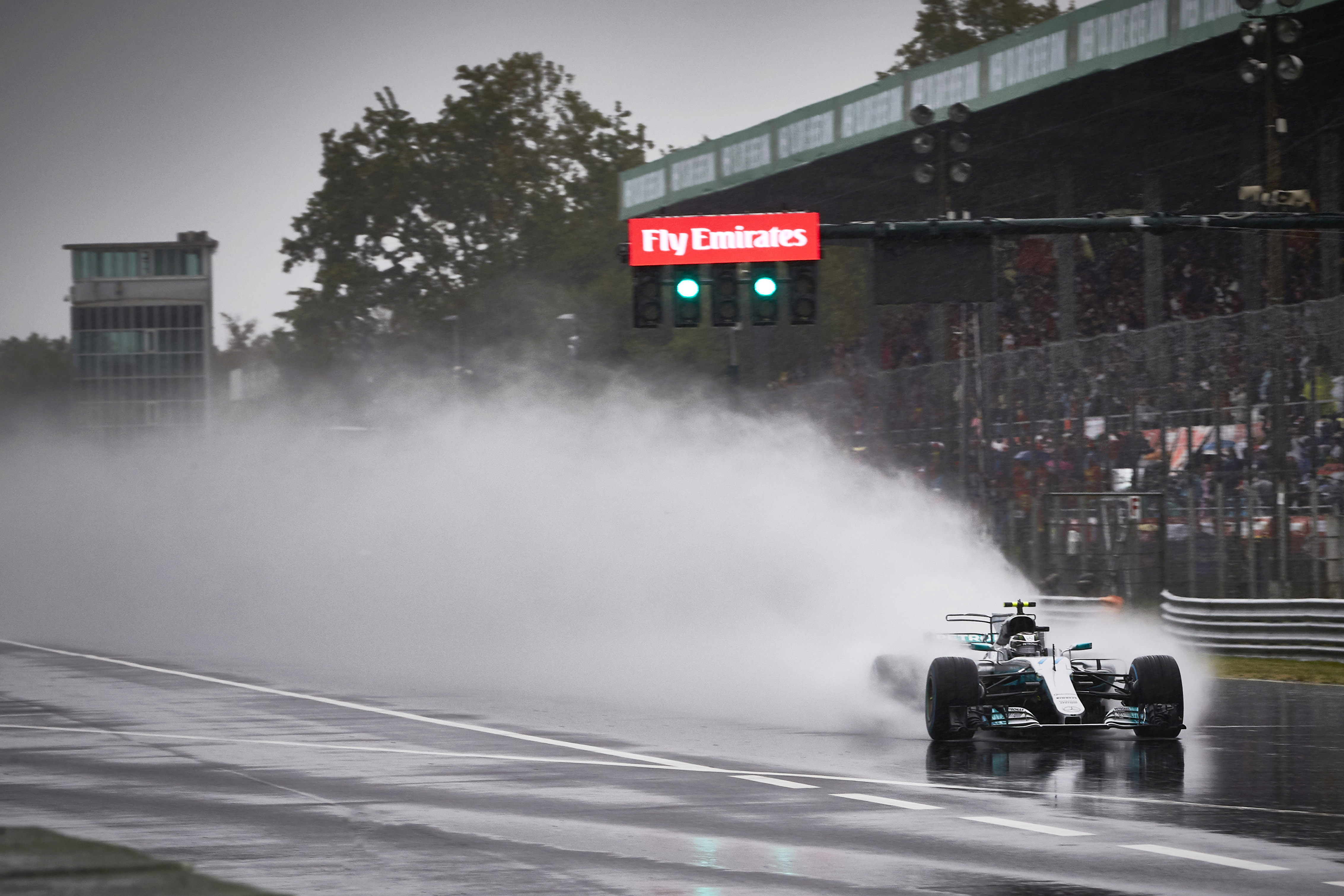 Autodromo Nazionale di Monza, Italy. Saturday 2 September 2017. Valtteri Bottas, Mercedes F1 W08 EQ Power+. World Copyright: Steve Etherington/LAT Images ref: Digital Image SNE14923