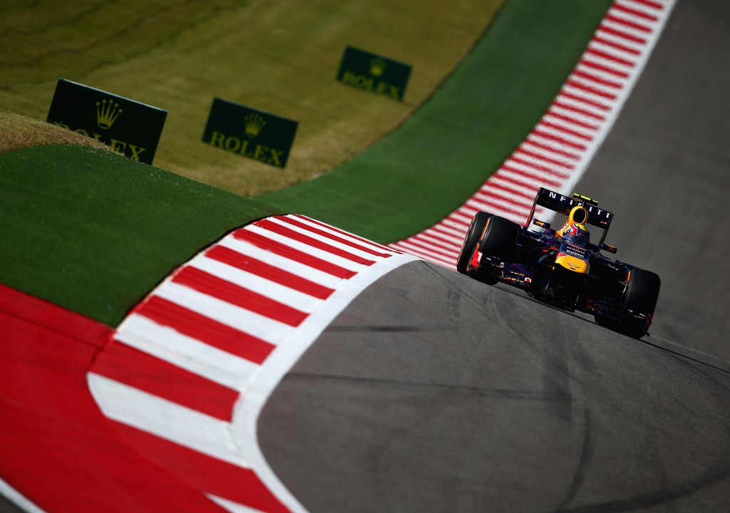 during practice for the United States Formula One Grand Prix at Circuit of The Americas on November 15, 2013 in Austin, United States.