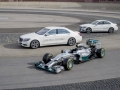 Efficiency equals performance - as the F1 race car (W05 Hybrid) is about 35 percent more efficient as its predecessor, so is the upcoming hybrid generation of Mercedes-Benz: S 500 PLUG IN HYBRID and C-Class PLUG IN HYBRID