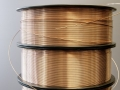 NANOSLIDE technology: Metal wires are melted in an electric arc
