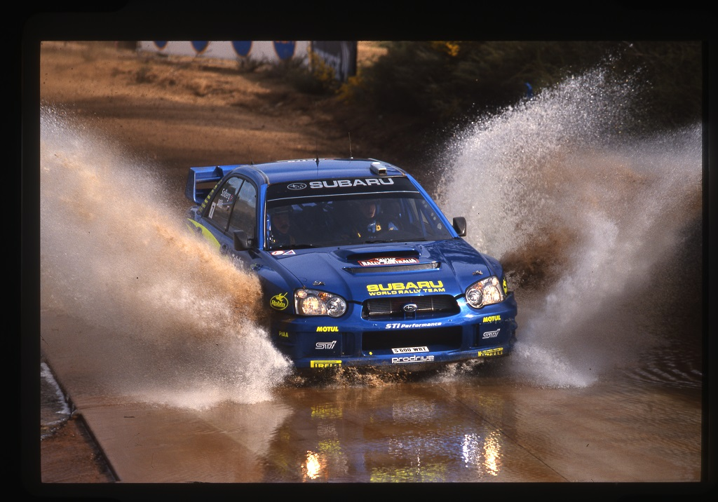 21 - Petter Solberg su Subaru, Rally d'Australia, 2003