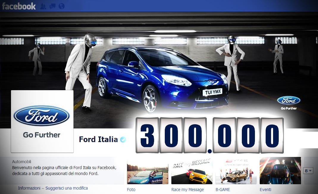 300mila fan per Ford Italia su Facebook