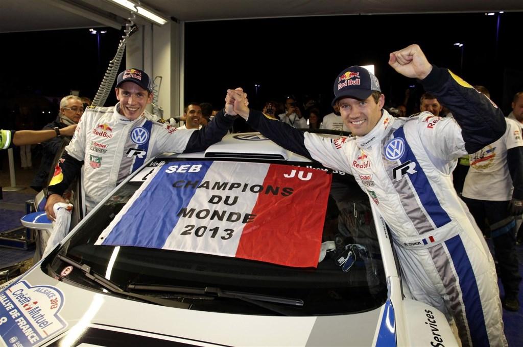 Ogier e Ingrassia nuovi Campioni del Mondo Rally