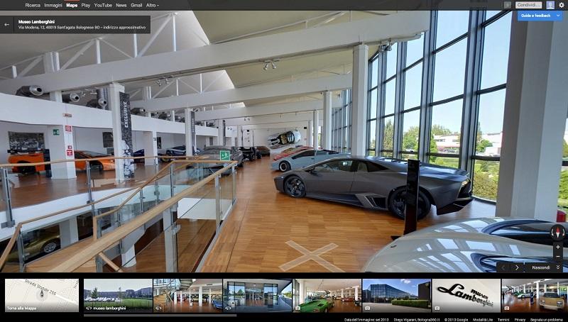 Il Museo Lamborghini visitabile online con Google Maps