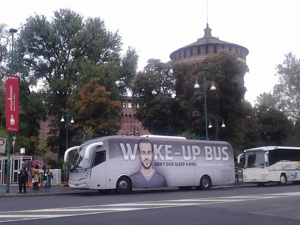 Un bus contro i rischi della sonnolenza alla guida