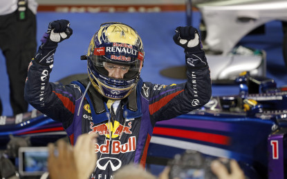 Con Vettel, 50° vittoria per il Renault RS27