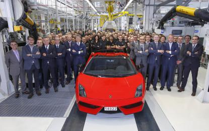 Fine produzione per la Lamborghini Gallardo