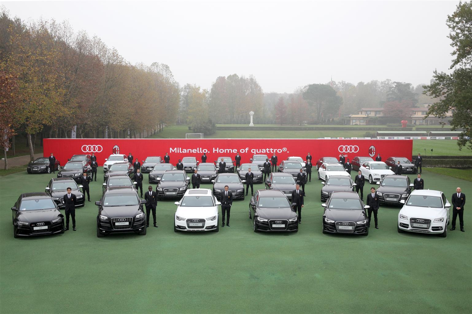 Audi con trazione integrale quattro per l'A.C. Milan