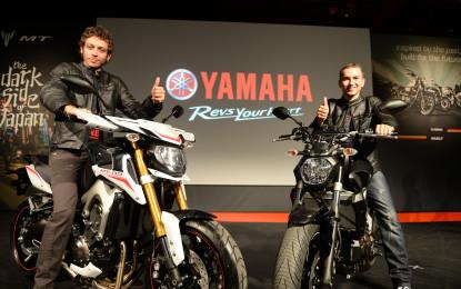 Rossi e Lorenzo presentano le Yamaha del futuro