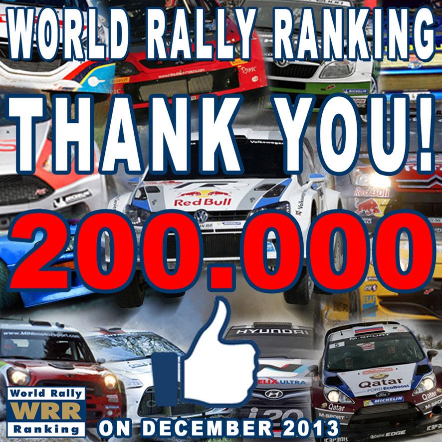 World Rally Ranking: successo in crescita