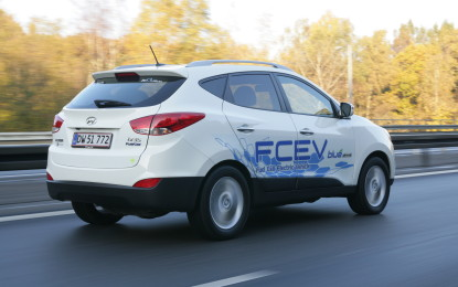 'Green Steering Wheel' per la Hyundai ix35 Fuel Cell