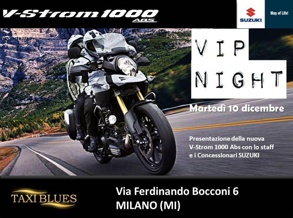 """Suzuki """"Vip Night"""", entra nel mondo V-Strom 1000 ABS"""