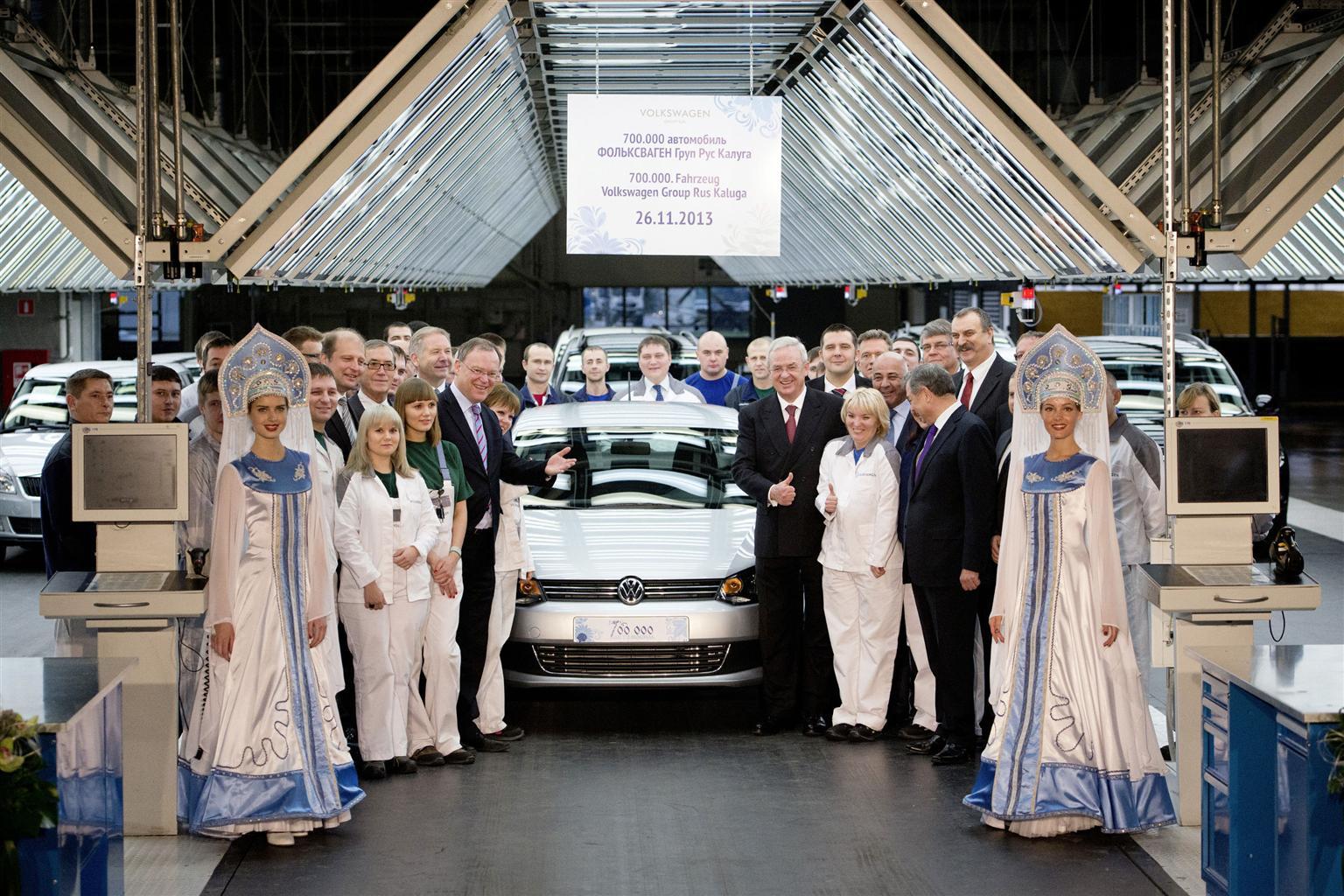 VW: 700.000 vetture prodotte a Kaluga