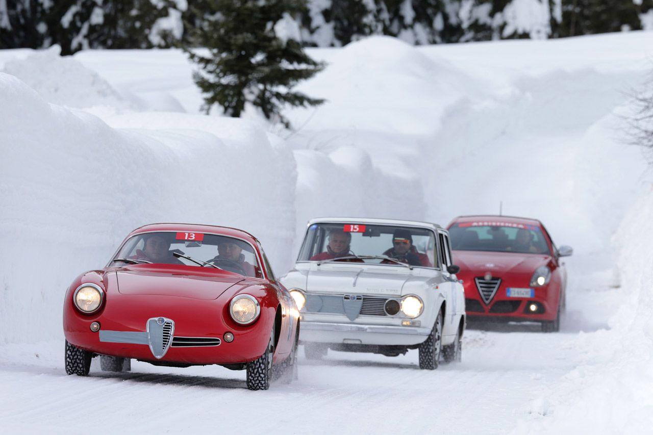 Le Alfa Romeo storiche alla Winter Marathon