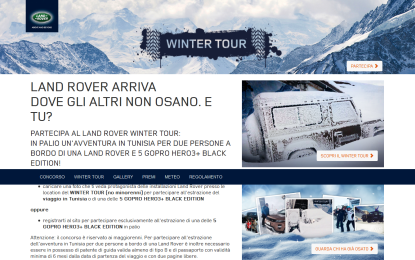 "Land Rover: Winter Tour e ""Temporary Space"""