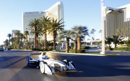 Formula E: primi giri ufficiali a Las Vegas