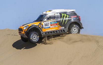 Dakar: 1° e 2° posto per MINI all'11° tappa