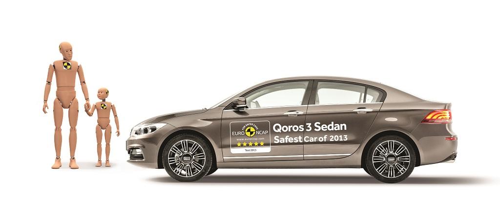 Qoros 3 Sedan auto più sicura del 2013