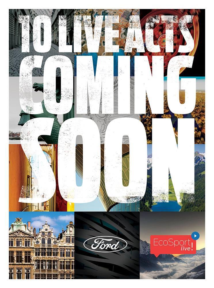 Nuova Ford EcoSport: concerto per il lancio live su YouTube