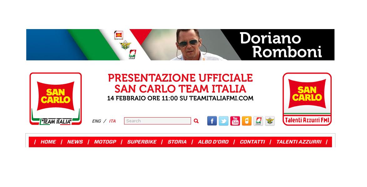 Il San Carlo Team Italia 2014 si presenta online