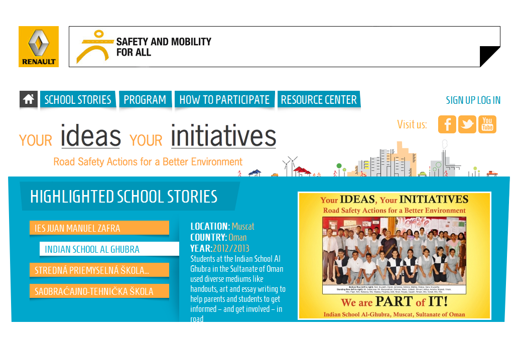 Renault per le scuole con Your Ideas Your Inititiatives