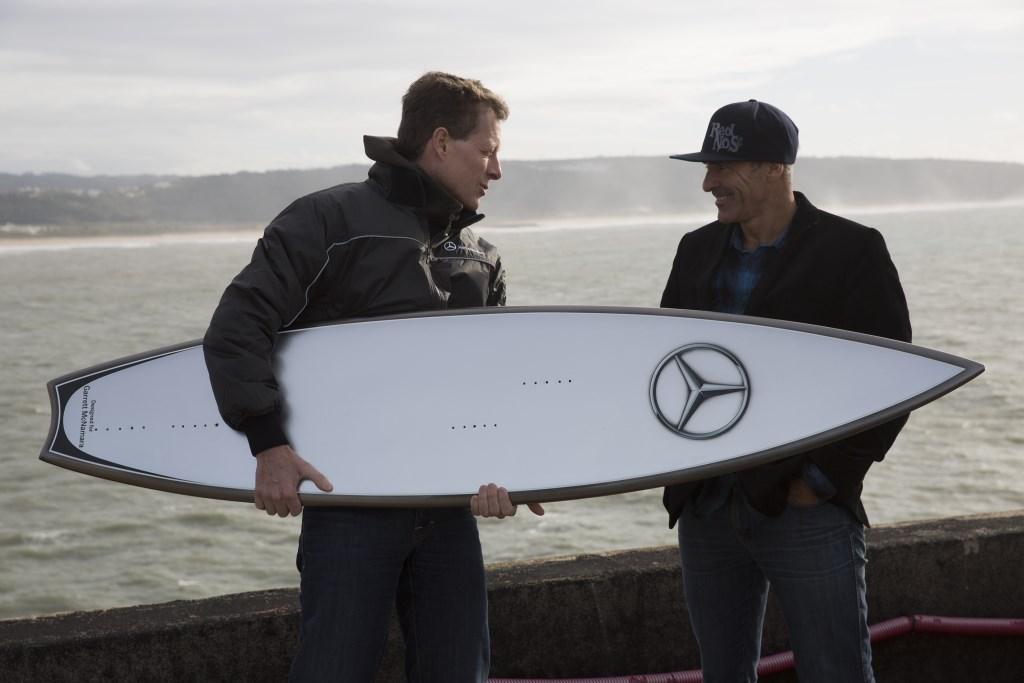 Mercedes Design cavalca le onde con McNamara