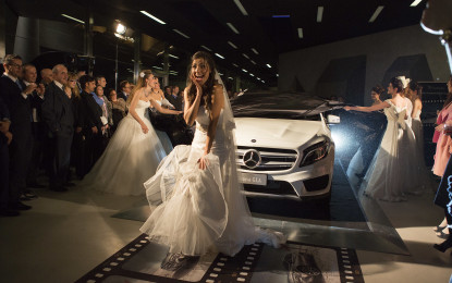 Mercedes: weekend tra angeli e stelle