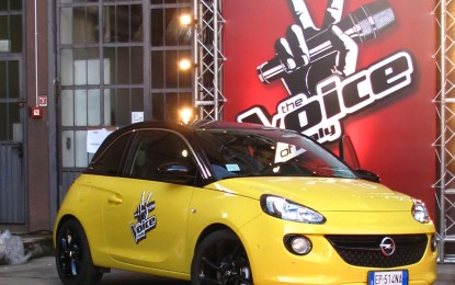 "Opel ADAM auto ufficiale del talent ""The Voice of Italy"""