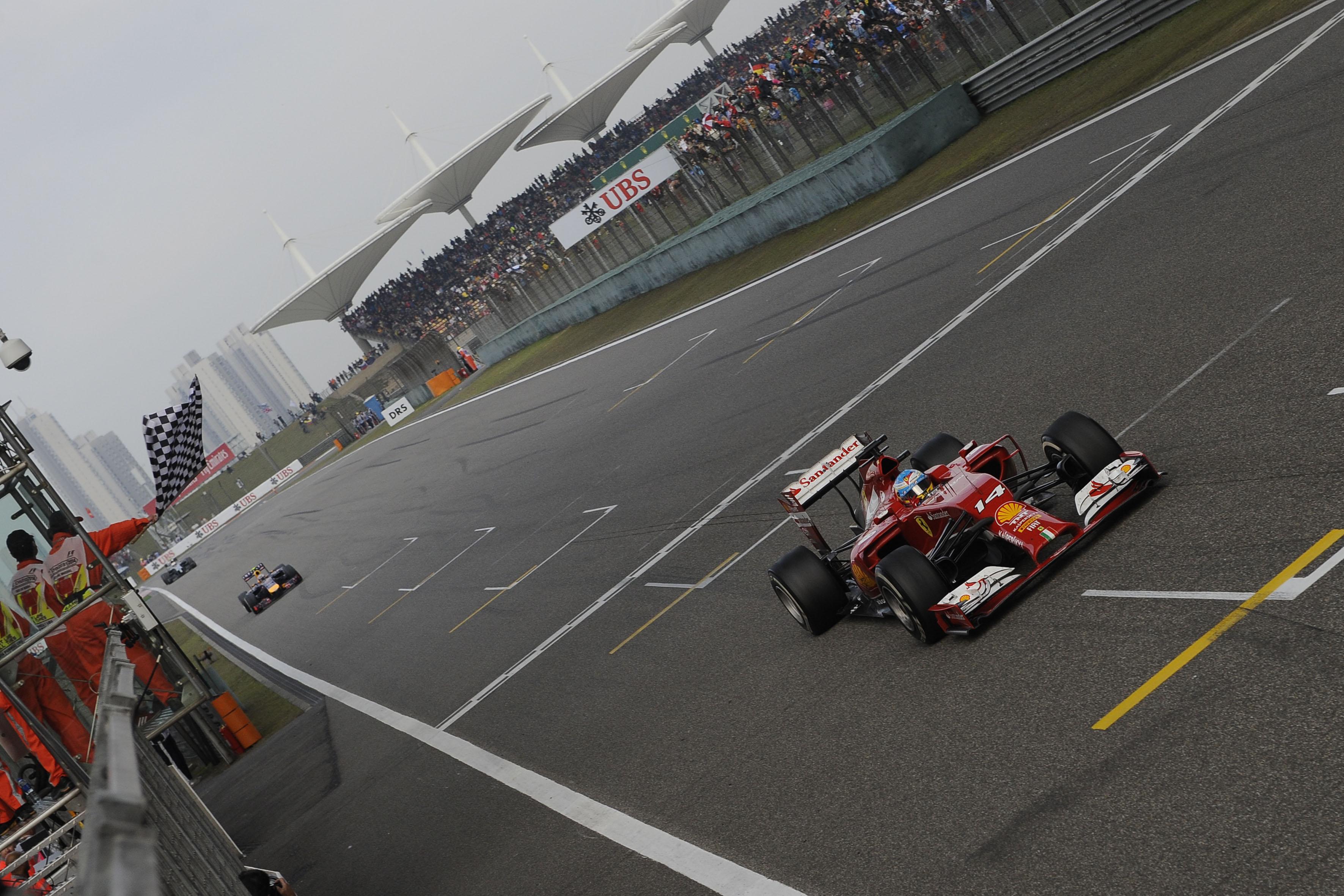Cina: primo podio per la Ferrari