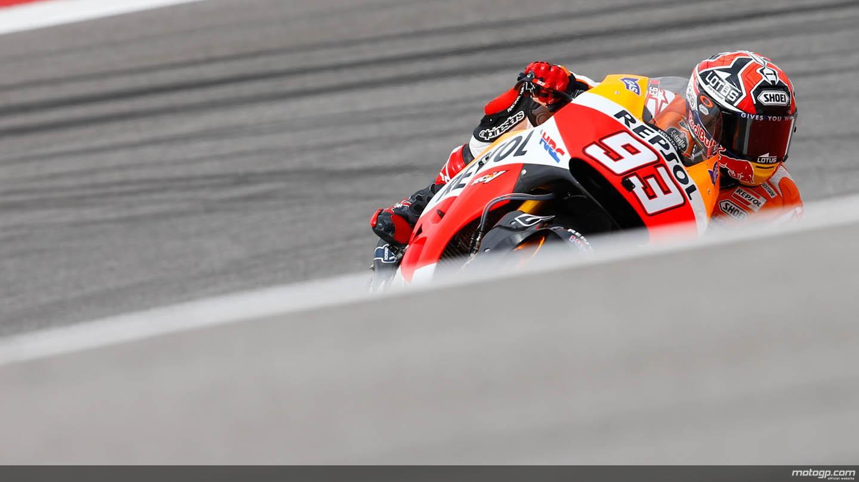 GP d'America: Marquez di nuovo in pole