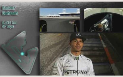 Bahrain: un giro al simulatore con Hamilton