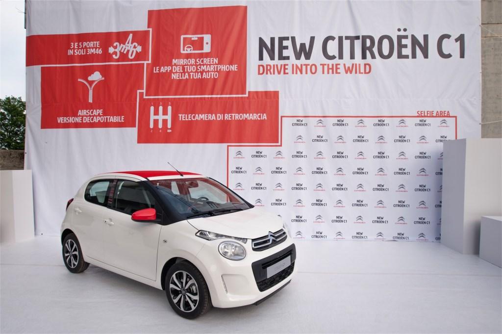 Nuova Citroën C1 regina di Sensation