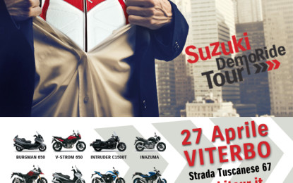 Suzuki Demo Ride Tour: gli appuntamenti del weekend