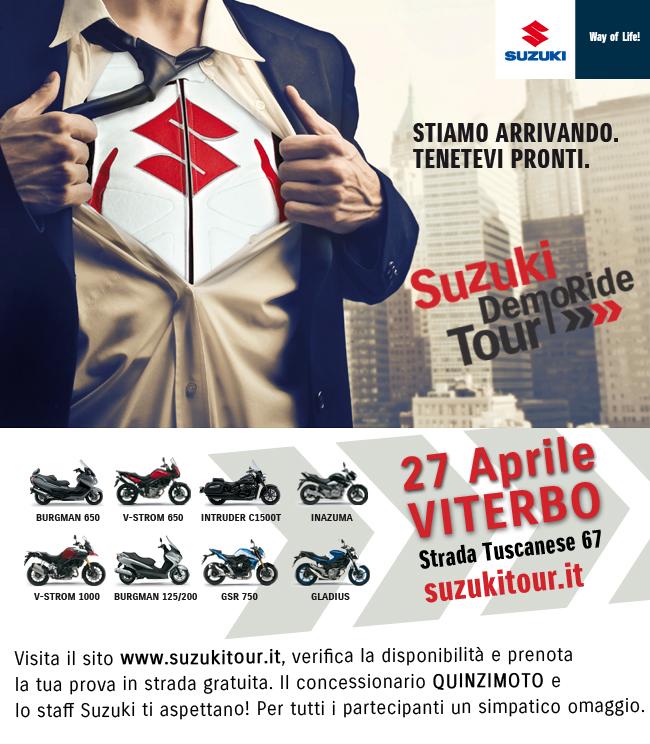 Suzuki Demo Ride Tour: gli appuntamenti del weekend