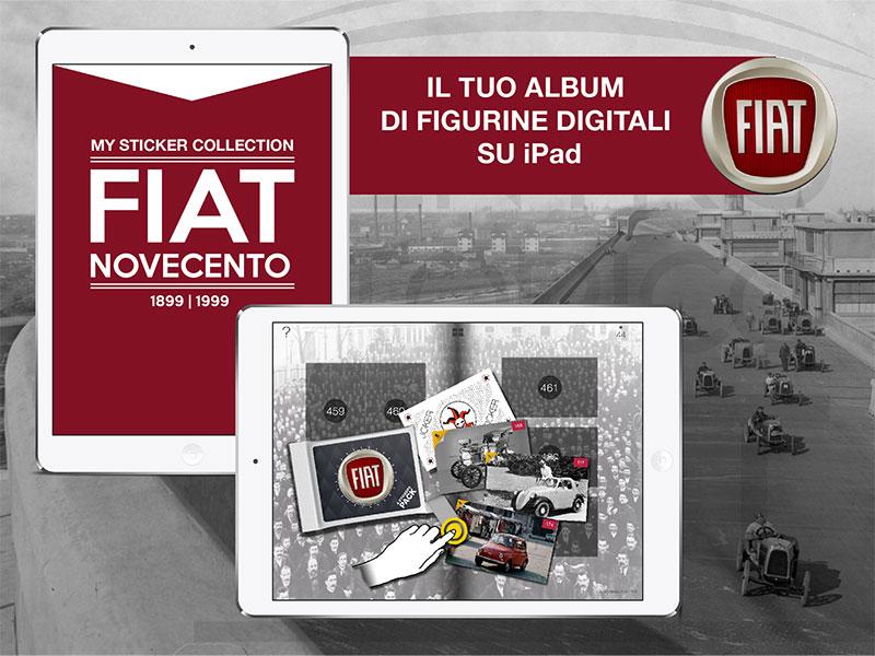 FIAT NOVECENTO, un album di figurine su iPad