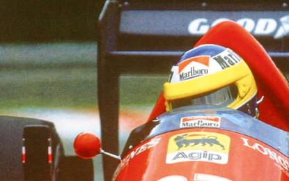 Il sogno di Alboreto, ipnotizzato da fulminee e rombanti auto da corsa