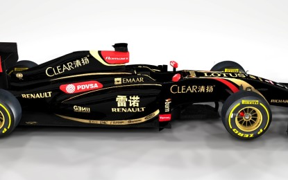 Sulle Lotus F1 il Marchio Renault in cinese