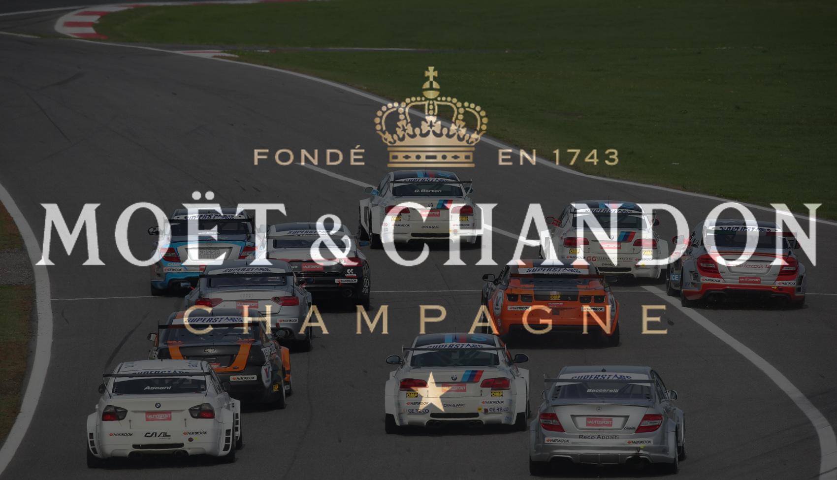 Moët & Chandon champagne della EUROV8series