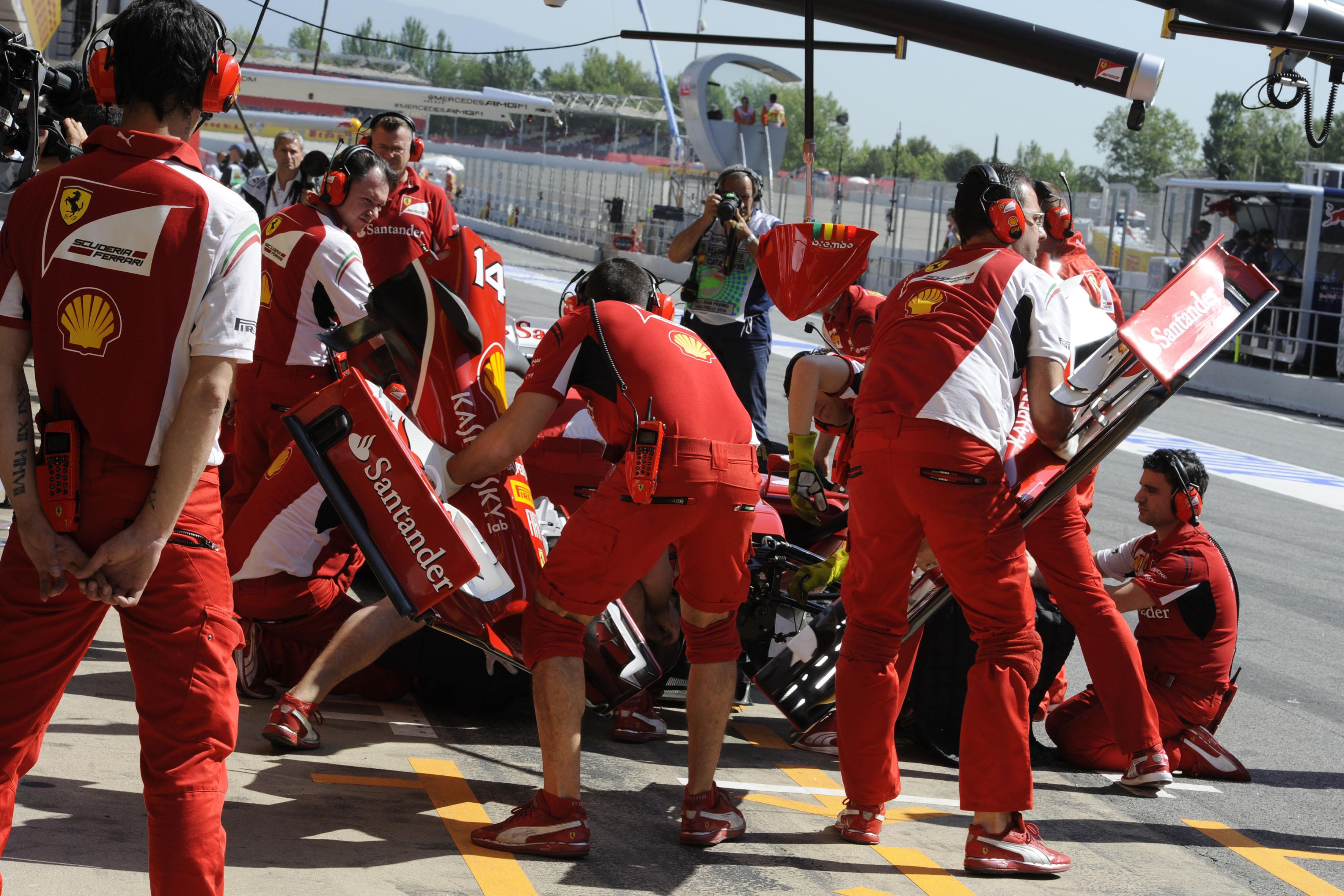 Spagna: lavoro intenso in casa Ferrari