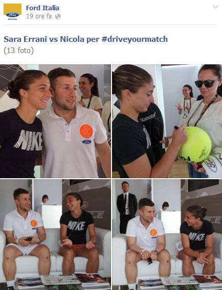 Una giornata da campione con Ford e Sara Errani