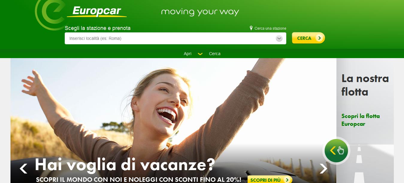 Europcar presenta la sua nuova App