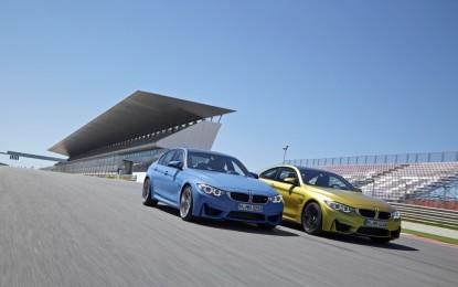 BMW nuove M3 berlina e M4 Coupé