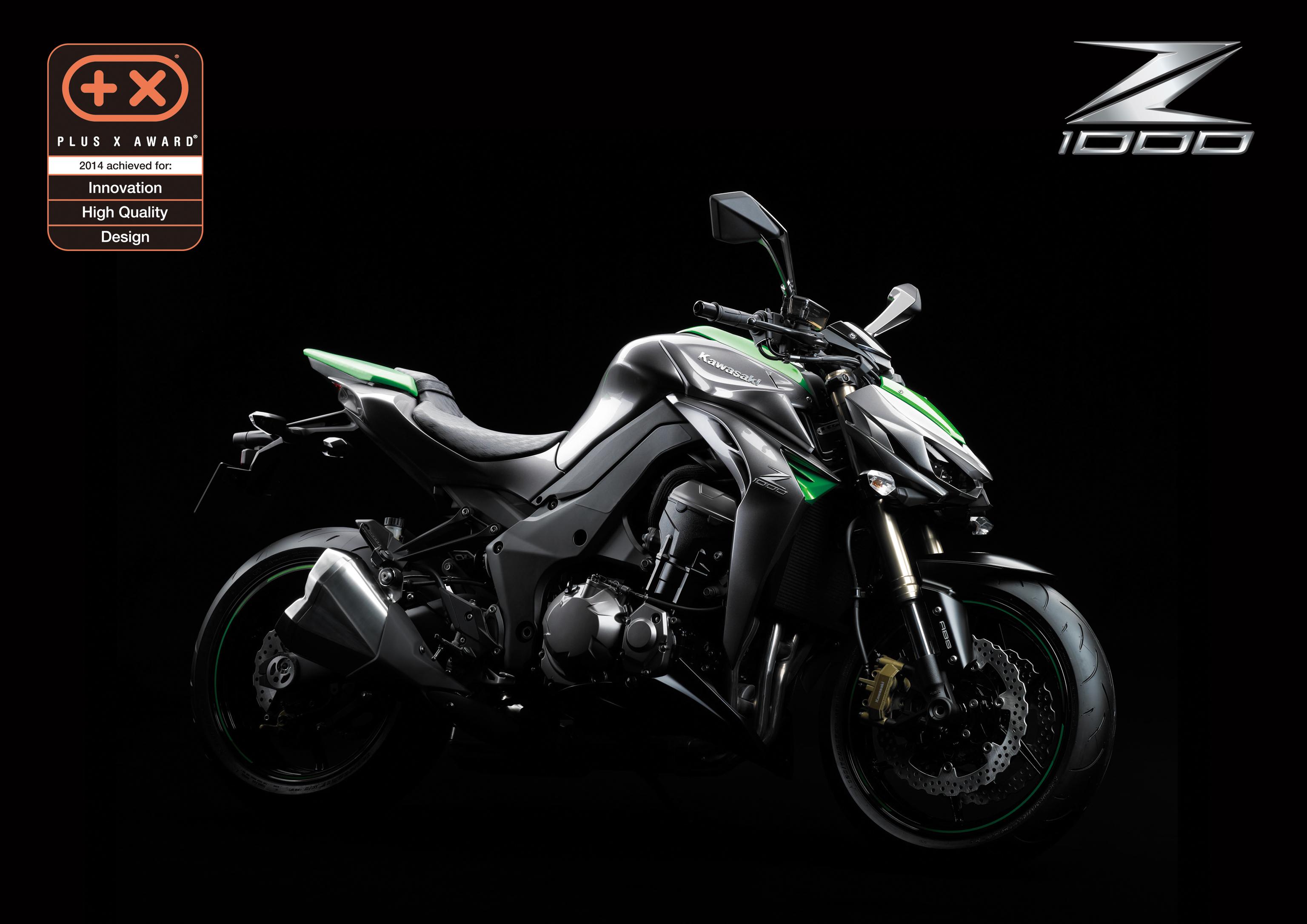 Nuova Kawasaki Z1000 premiata ai Plus X Award