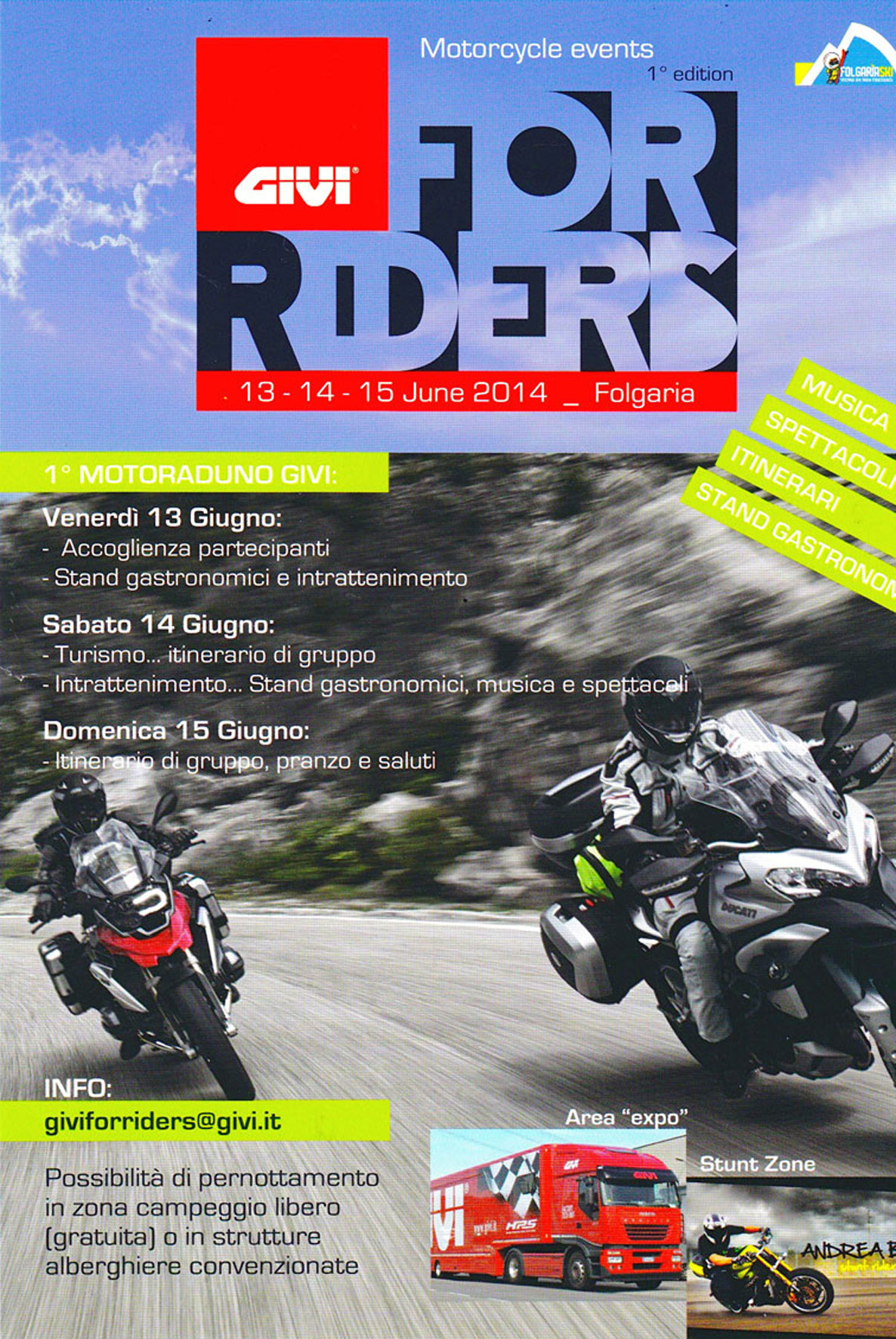 Motoraduno GIVI FOR RIDERS